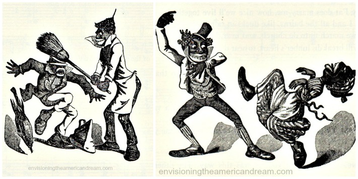 Racist B&W illustration Minstrel Shows