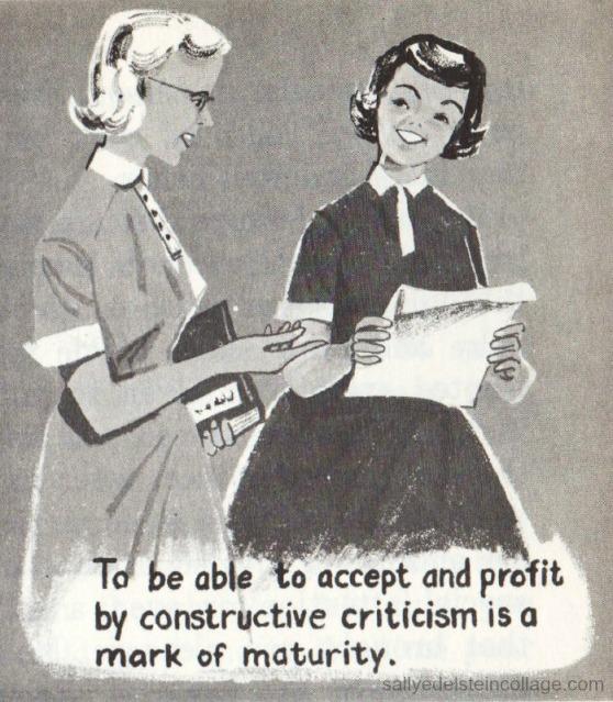 Vintage schoolbook  Illustration girls