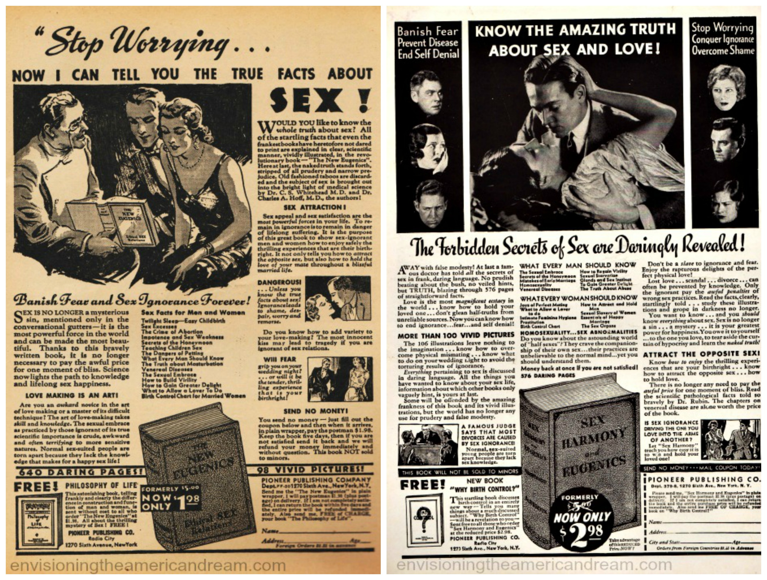 vintage sex sex books manuals ads 1930s