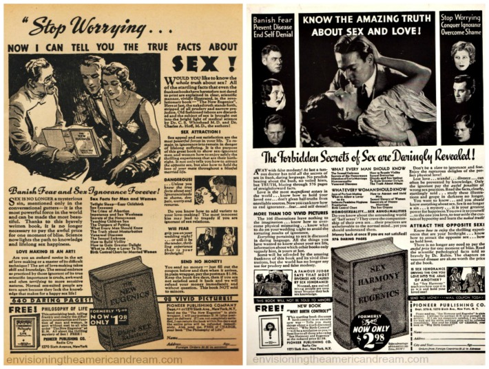 sex books manuals ads 1930s