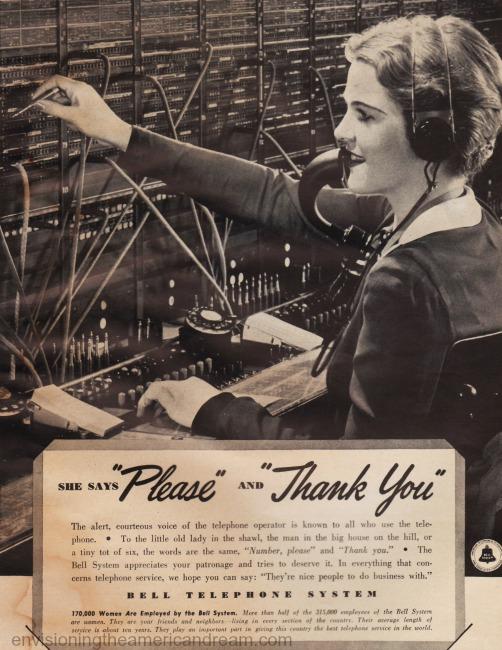 telephone operator 1930s