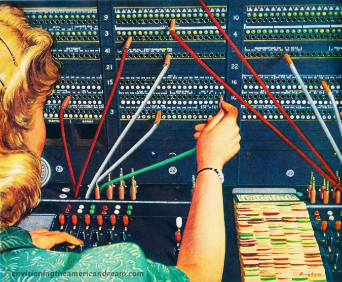 telephone operator  illustration