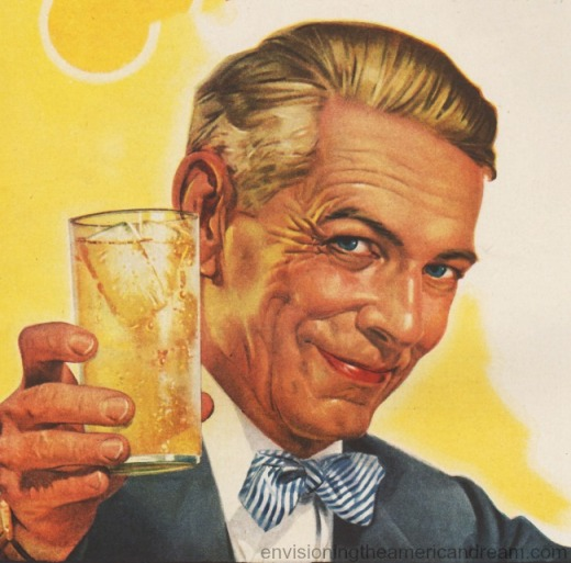 illustration man holding drink