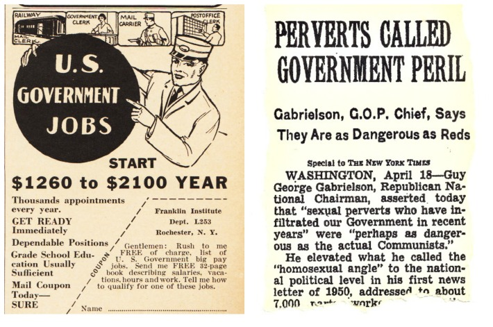 America jobs anti gay article 1950