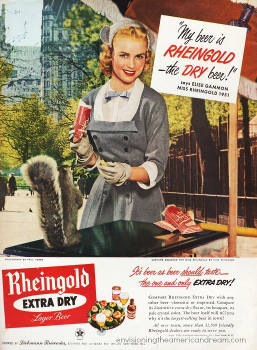 Beer ad Miss Rheingold