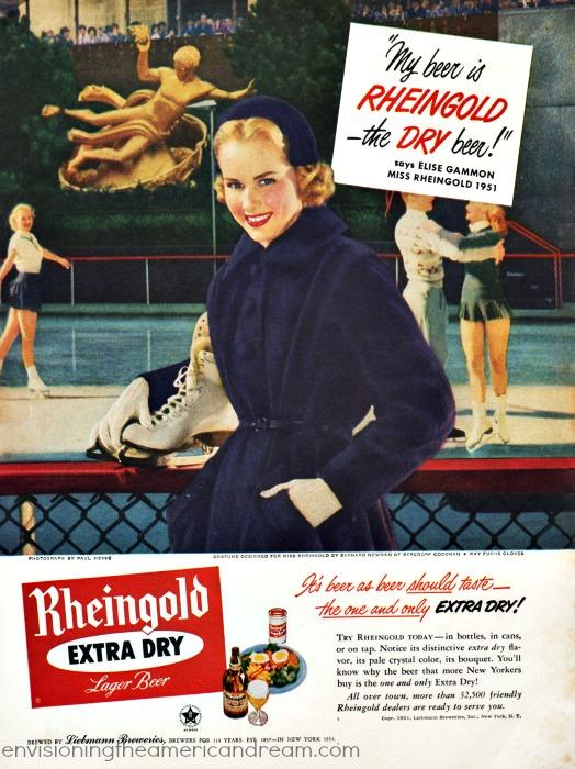 Vintage ad Miss Beer Rheingold