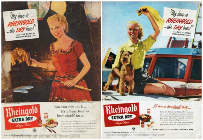 beer ads Miss Rheingold 1951