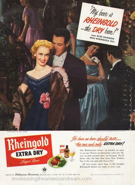 beer ad Miss Rheingold 1951