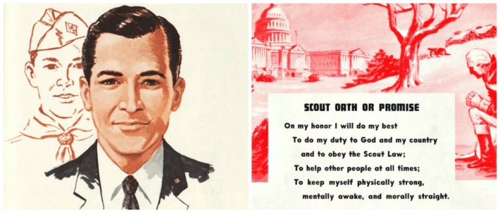 vintage Boy Scout illustrations