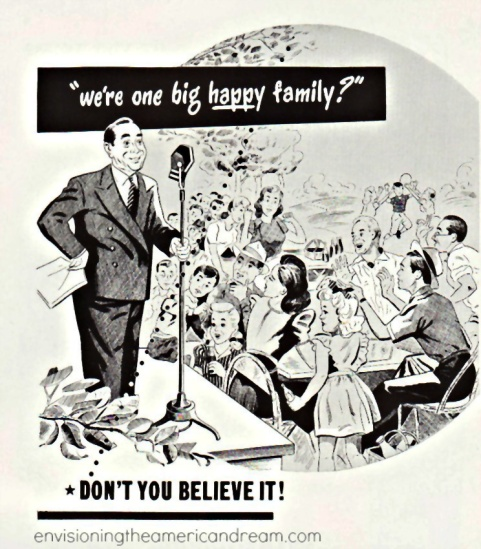 Vintage Business Ad We're Just One Big Happy Family