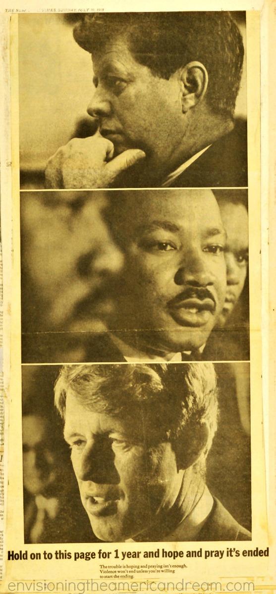 Vintage ad 1969 JFK, RFK, MLK