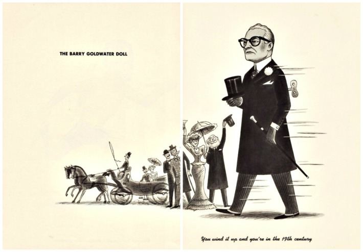 Kennedy dolls Barry Goldwater cartoon
