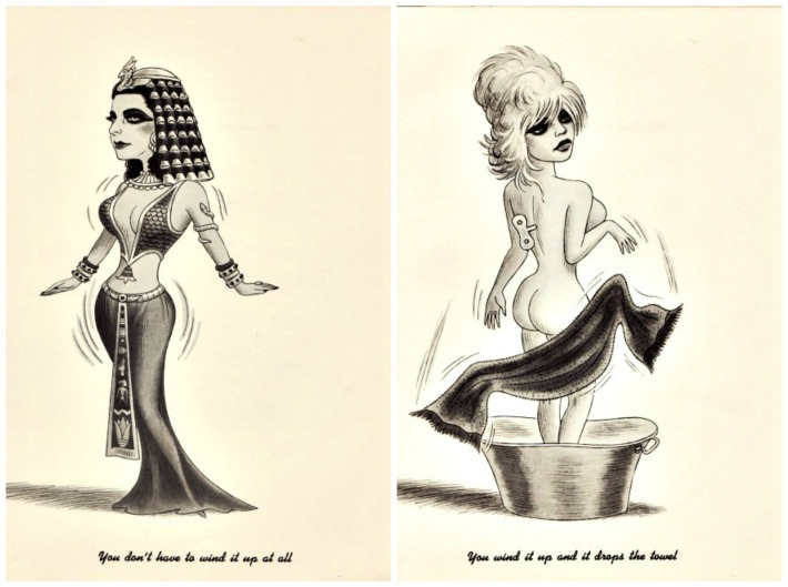 Kennedy Dolls Liz Taylor Brigitte Bardot cartoons