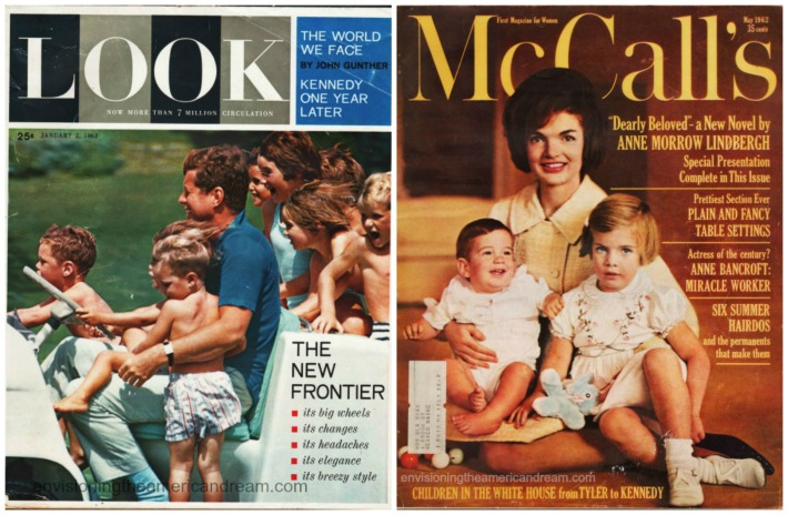 Kennedy Family Vintage Magazine covers JFK and Jackie
