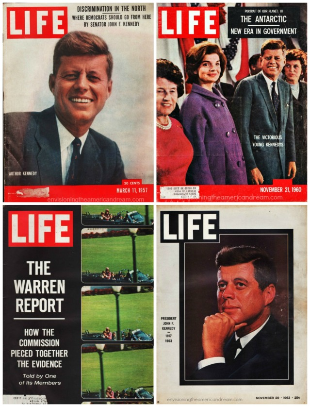 Vintage Life Magazine Covers John Kennedy