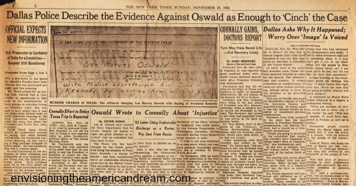 article NY TImes 1963 Oswald guilty
