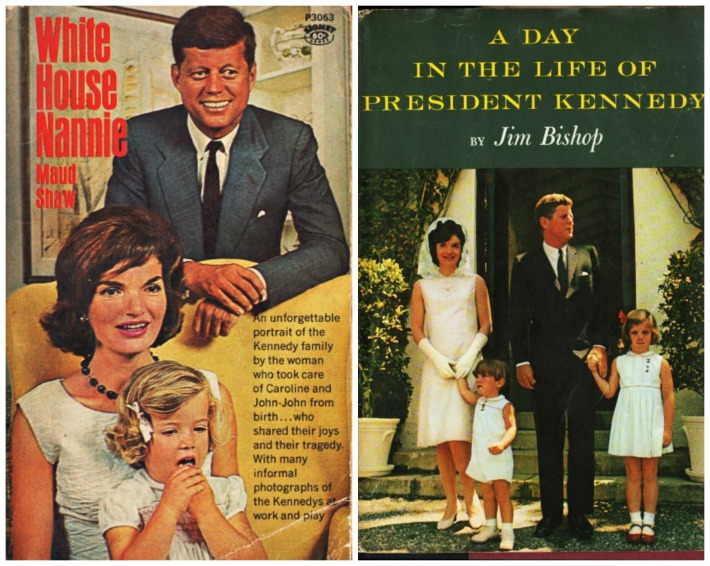 Kennedy book covers White House Nannie and  A Day in the Life of President Kennedy