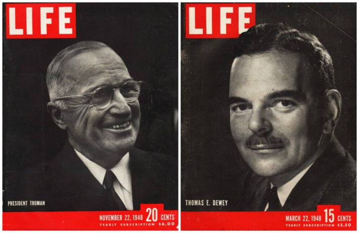 Harry Truman thomas Dewey Life magazine covers