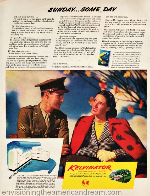 WWII advertisiement soldier and wife