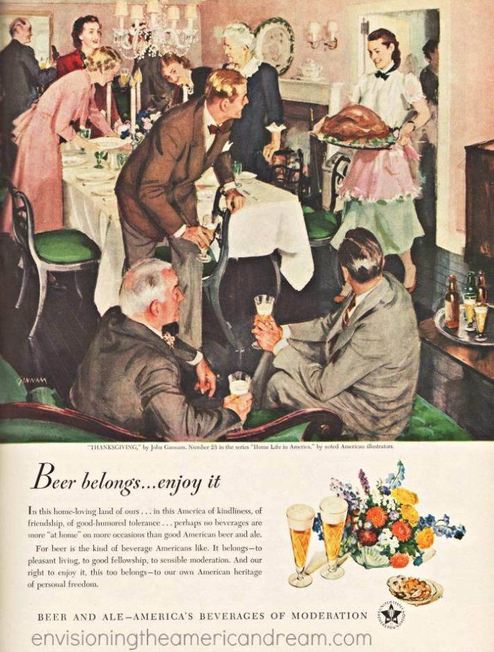 Family Thanksgiving illustration 1948