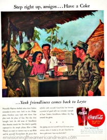 WWII Vintage ad Coke illustration philippines