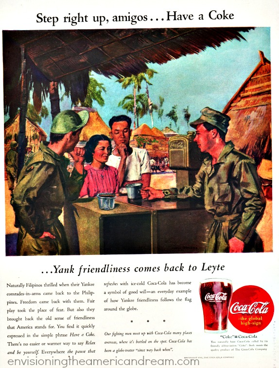 WWII Coke Philippines illustration ad