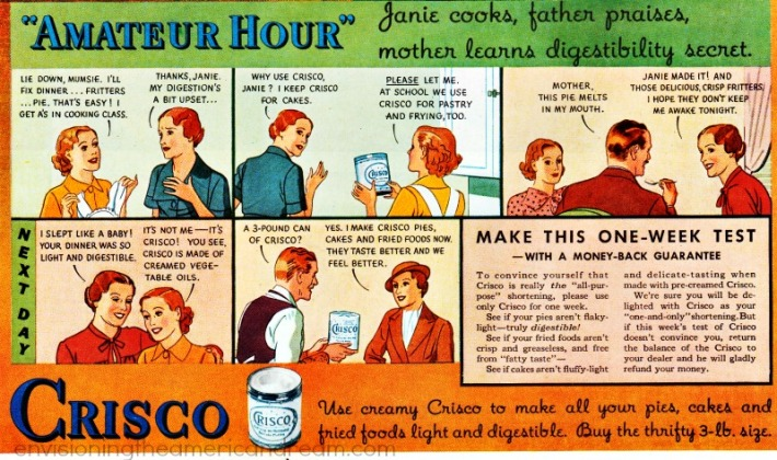 Vintage Crisco Ad cartoon