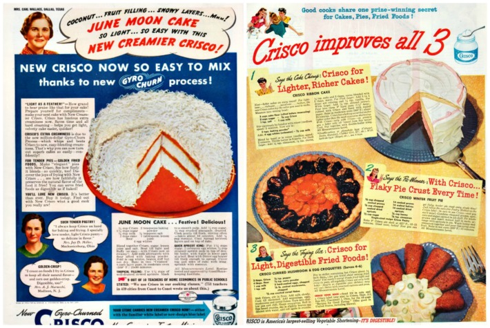 Vintage Crisco Advertisements