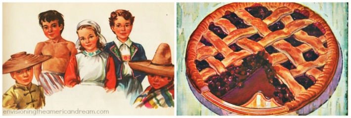 vintage illustration international children