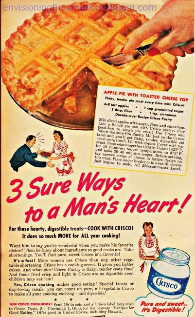 Vintage Crisco ad 1943