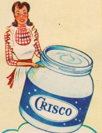 cricso ad 1948 housewife can crisco