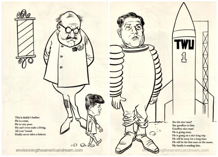 vintage cartoons 1960s Jimmy Hoffa JFK