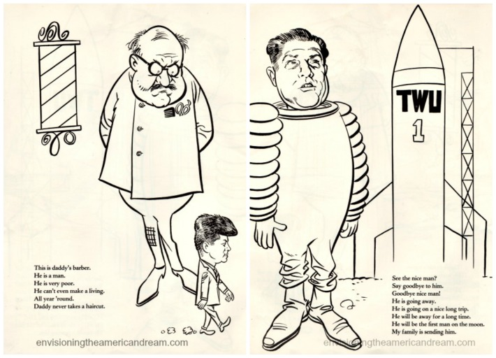 vintage cartoons 1960s Jimmy Hoffa JFK
