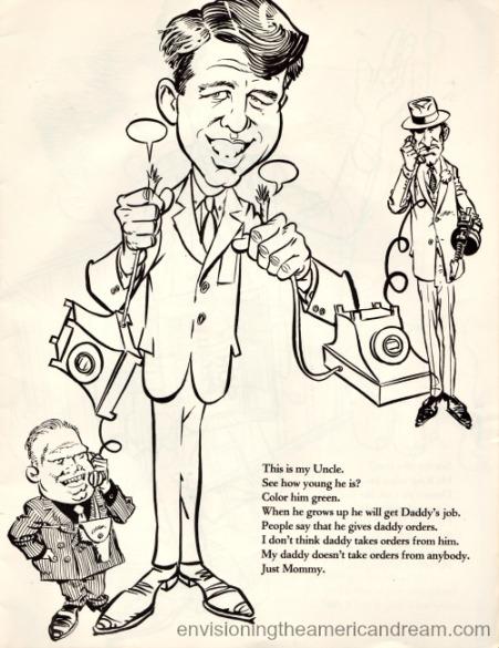 vintage cartoon Robert Kennedy