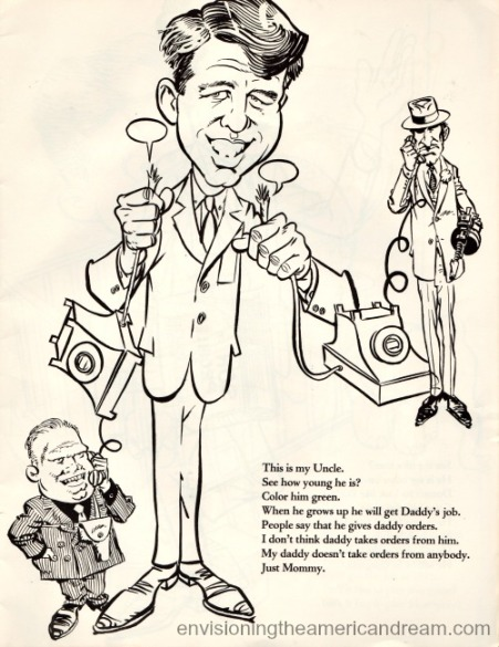 vintage cartoon Robert Kennedy