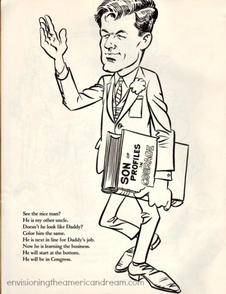 vintage cartoon Edward Kennedy