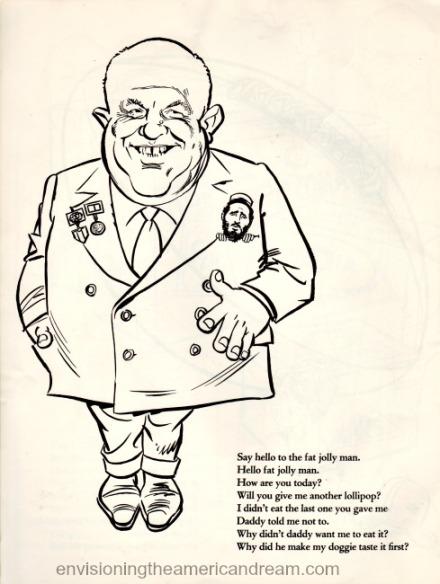 Vintage cartoon Khrushchev