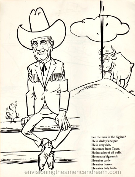 cartoon LBJ Vintage
