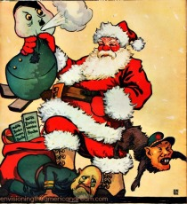 illustration Santa Claus WWII propaganda