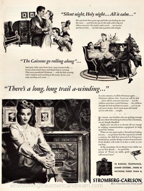 WWII Xmas radio vintage ad