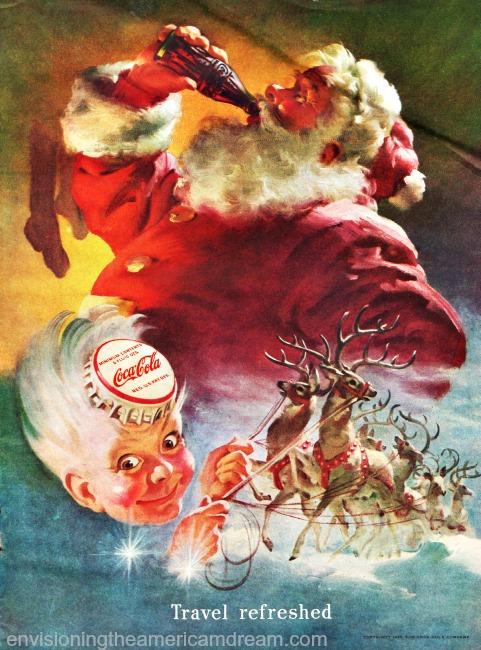 xmas coke ad santa claus 1949