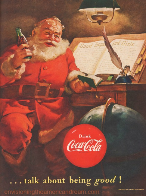 Santa Claus illustration Coke ad