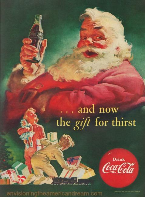 xmas coke santa ad 1952