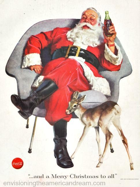 xmas coke ad Santa claus 1956