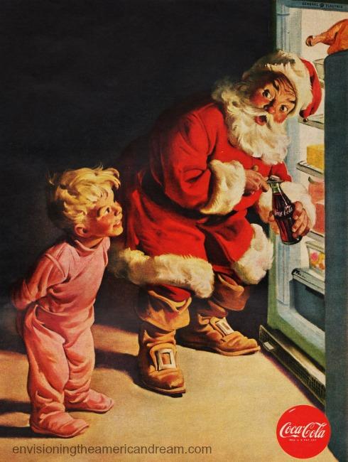 xmas coke ad Santa Claus 1959