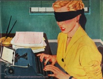 vintage illustration secretary 1952