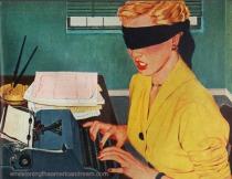 vintage illustration secretary 1952
