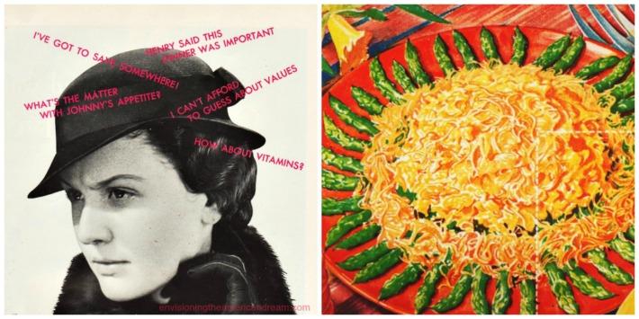 vintage ads 1930s housewife and velveeta illustration