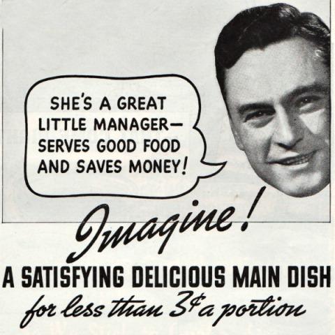 Vintage ad 1937 man speech bubble