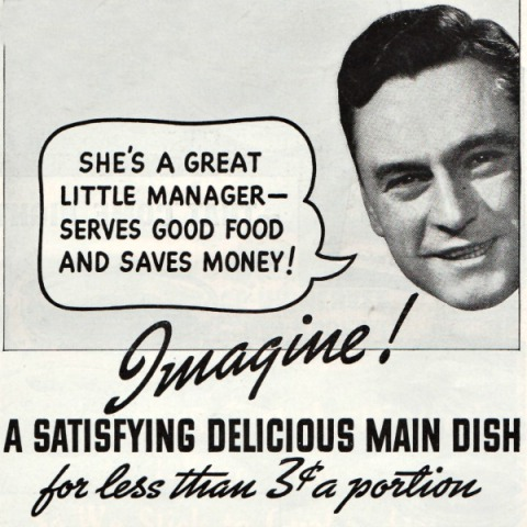 Vintage ad 1937 man speech bubble